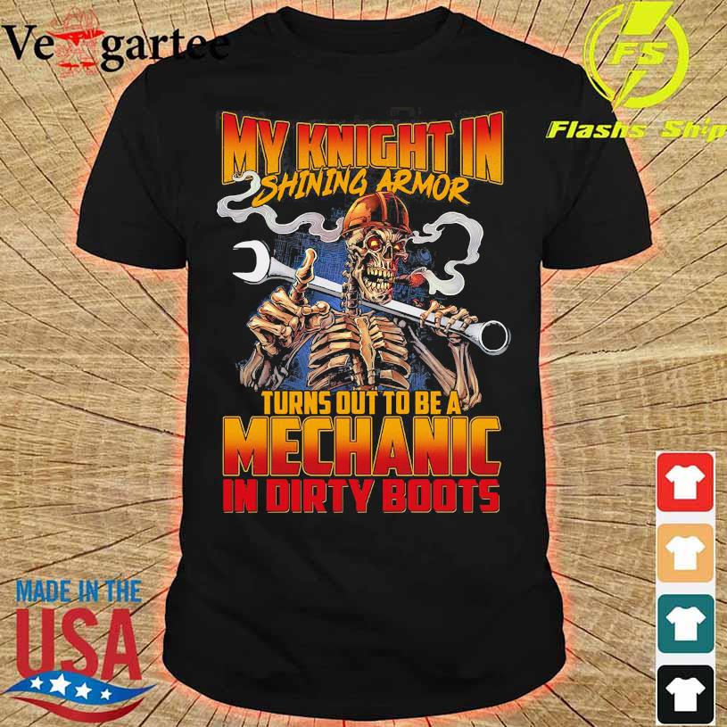 My knight in shining armor turns out to be a Mechanic in dirty boots shirt