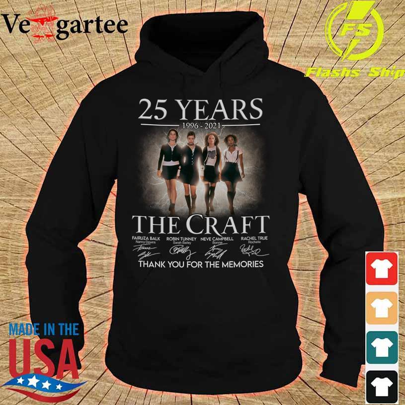 25 Years 1996 2021 The Craft thank You for the memories signatures hoodie