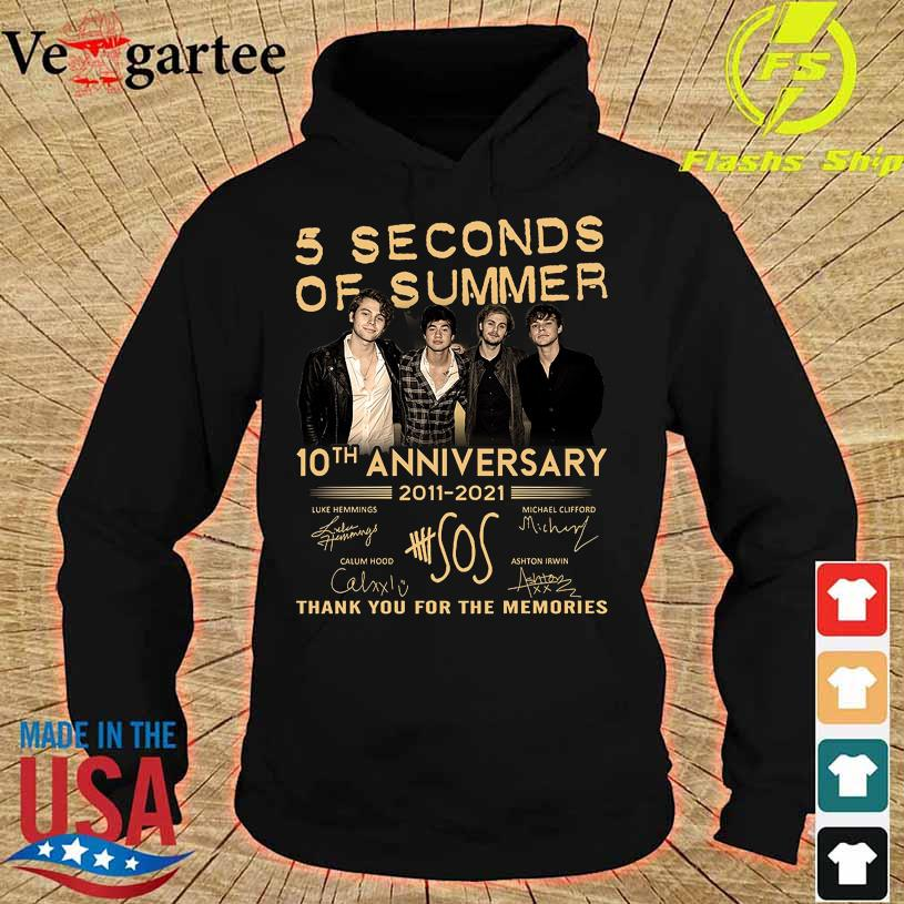 5 Seconds of Summer 10TH Anniversary 2011 2021 signatures hoodie