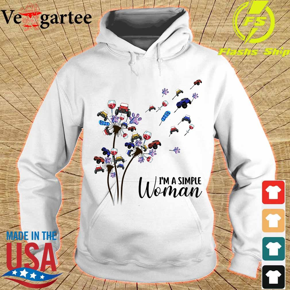 Jeep wine dog dandelion I'm a simple woman hoodie