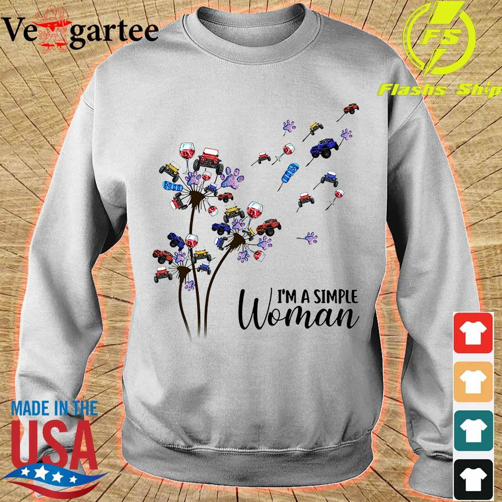 Jeep wine dog dandelion I'm a simple woman sweater