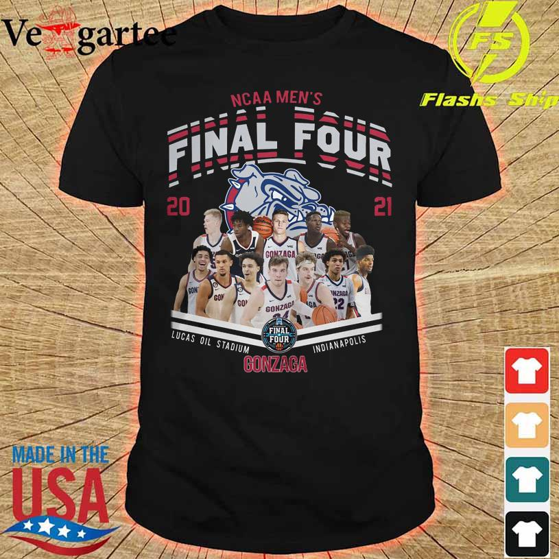 NCAA Men's Final Four 2021 Lucas Oil Stadium Indianapolis Gonzaga Bulldog shirt