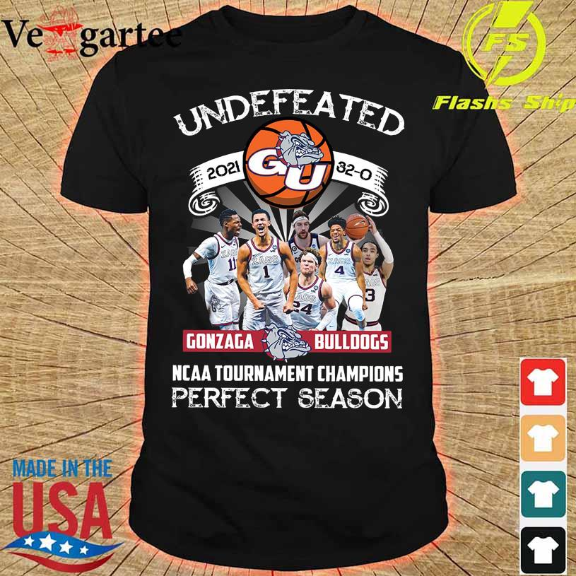 Official Undefeated 2021 Gonzaga Bulldogs NCAA Tournament champions perfect season shirt