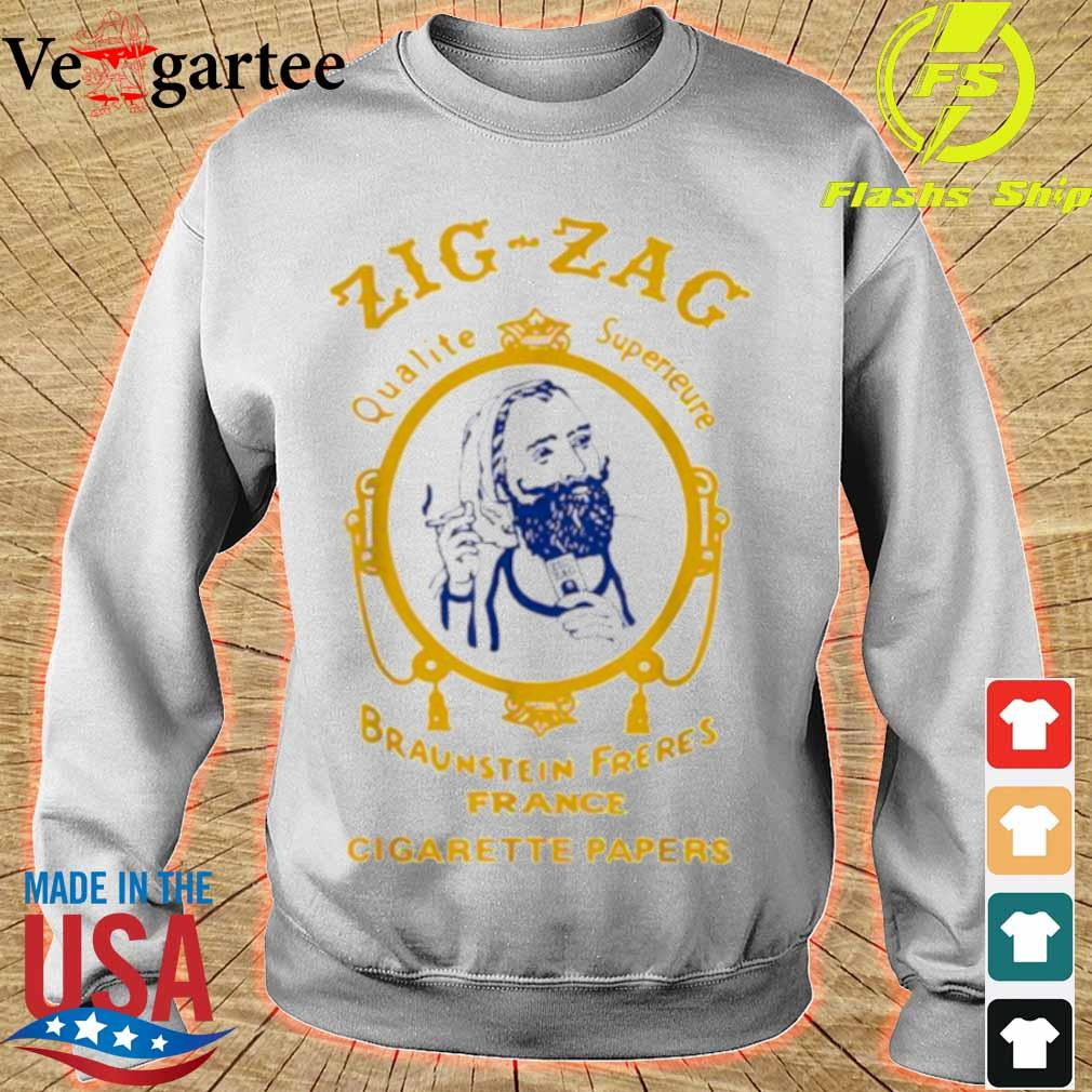 Zigzag Braumsteim Freres France Cigarette Papers Smoking Weed Cigarettes Shirt sweater