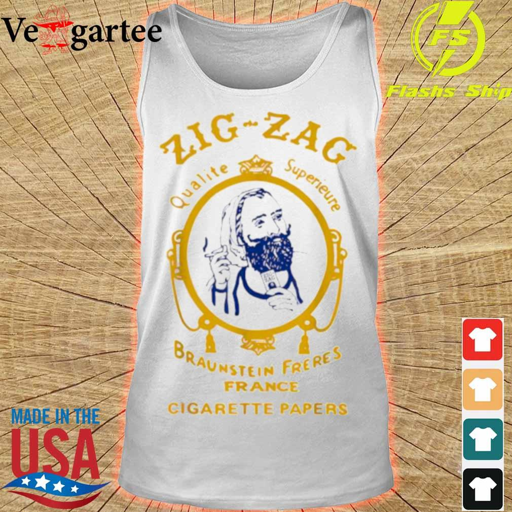 Zigzag Braumsteim Freres France Cigarette Papers Smoking Weed Cigarettes Shirt tank top