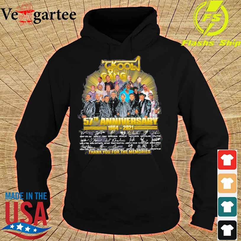 Kool Gang 57th Anniversary 1964 2021 Thank You For The Memories Signatures Shirt hoodie