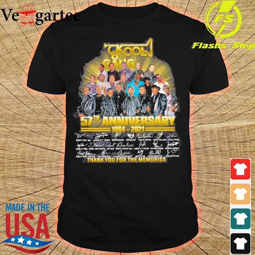 Kool Gang 57th Anniversary 1964 2021 Thank You For The Memories Signatures Shirt