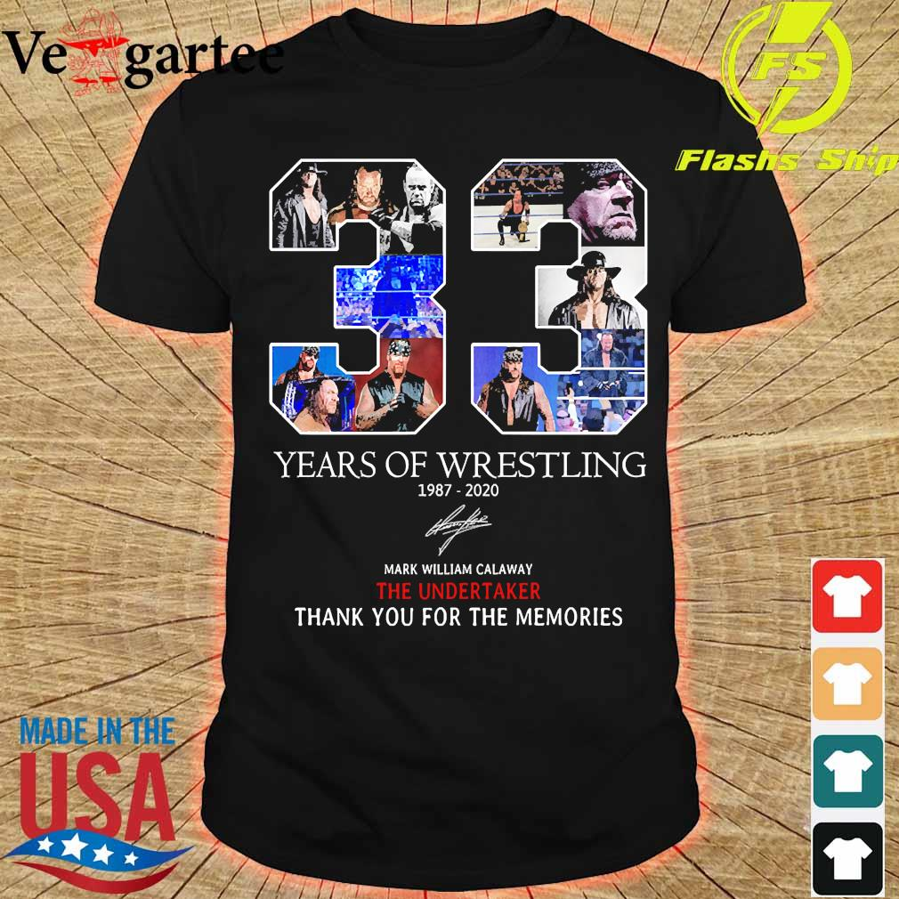 33 Years of Wrestling 1987 2020 thank You for the memories signature shirt