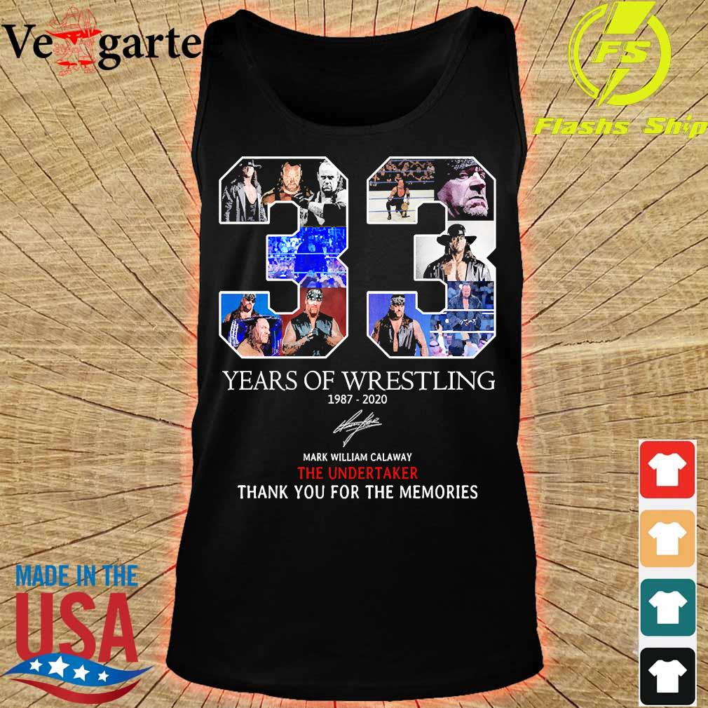 33 Years of Wrestling 1987 2020 thank You for the memories signature s tank top
