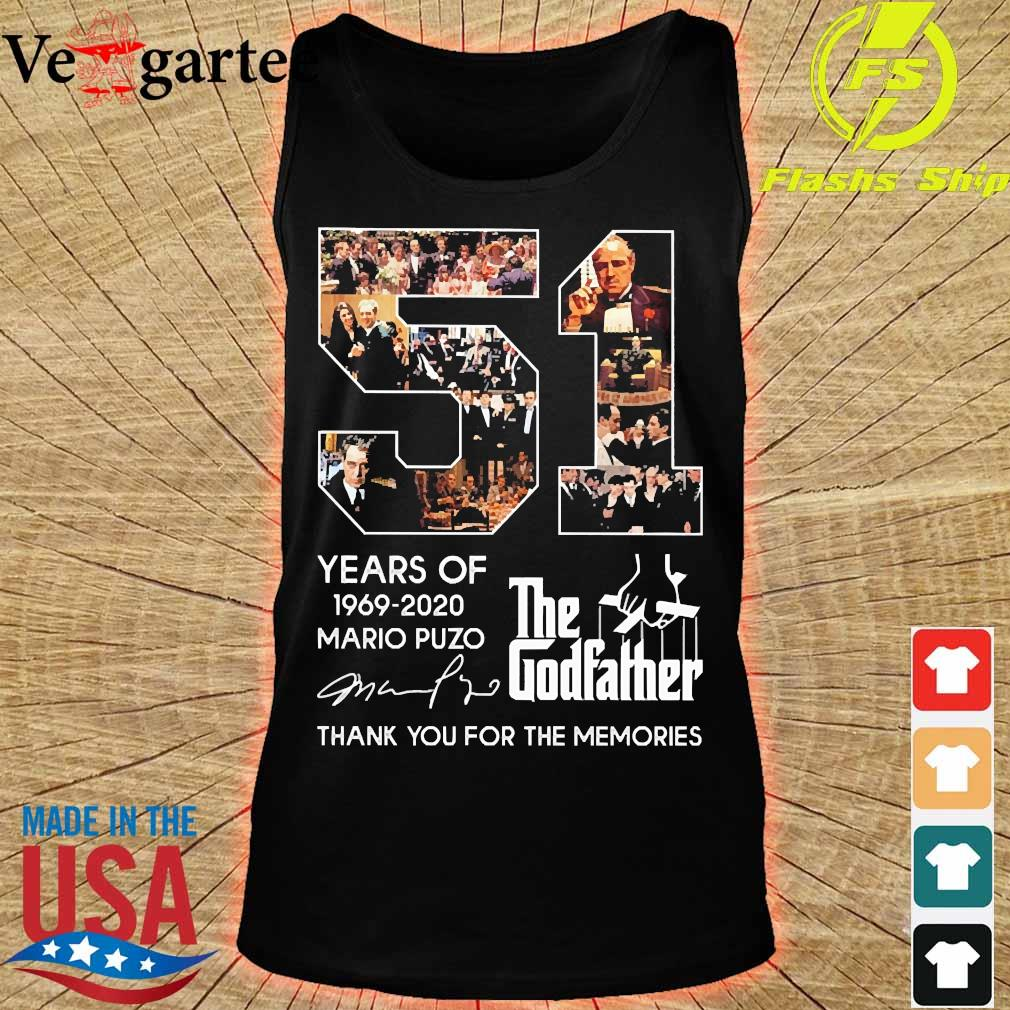 51 Years of The Godfather 1969-2020 Mario Puzo signature s tank top