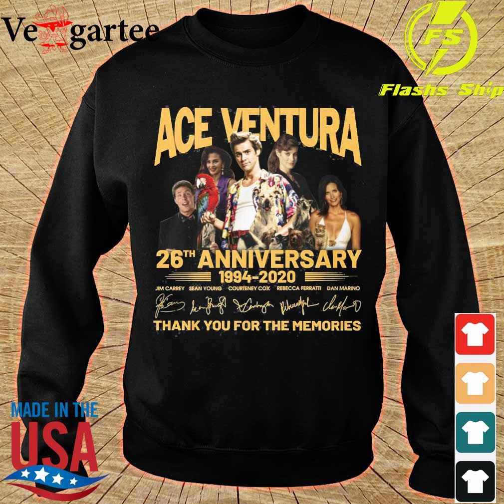 ACE Ventura 26th anniversary 1994 2020 thank You for the memories signatures s sweater