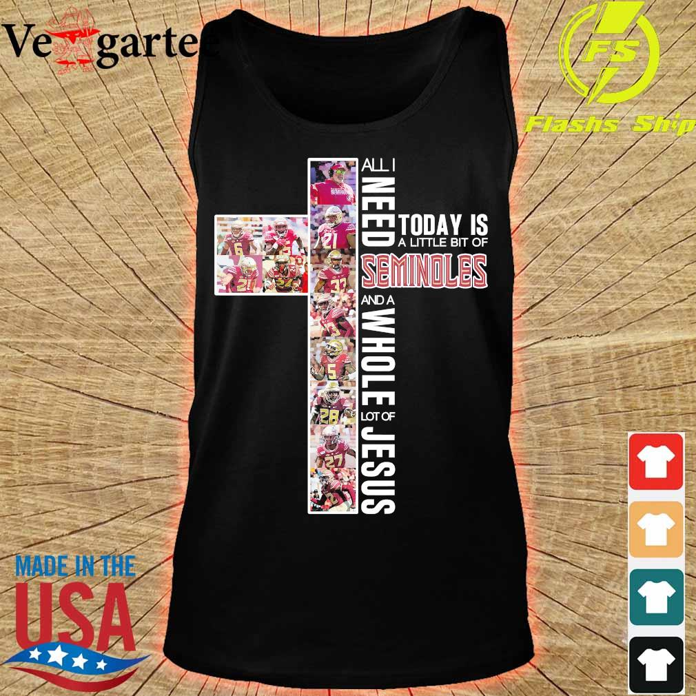 All need today is a little bit of Seminoles and a whole lot of Jesus Shirt tank top