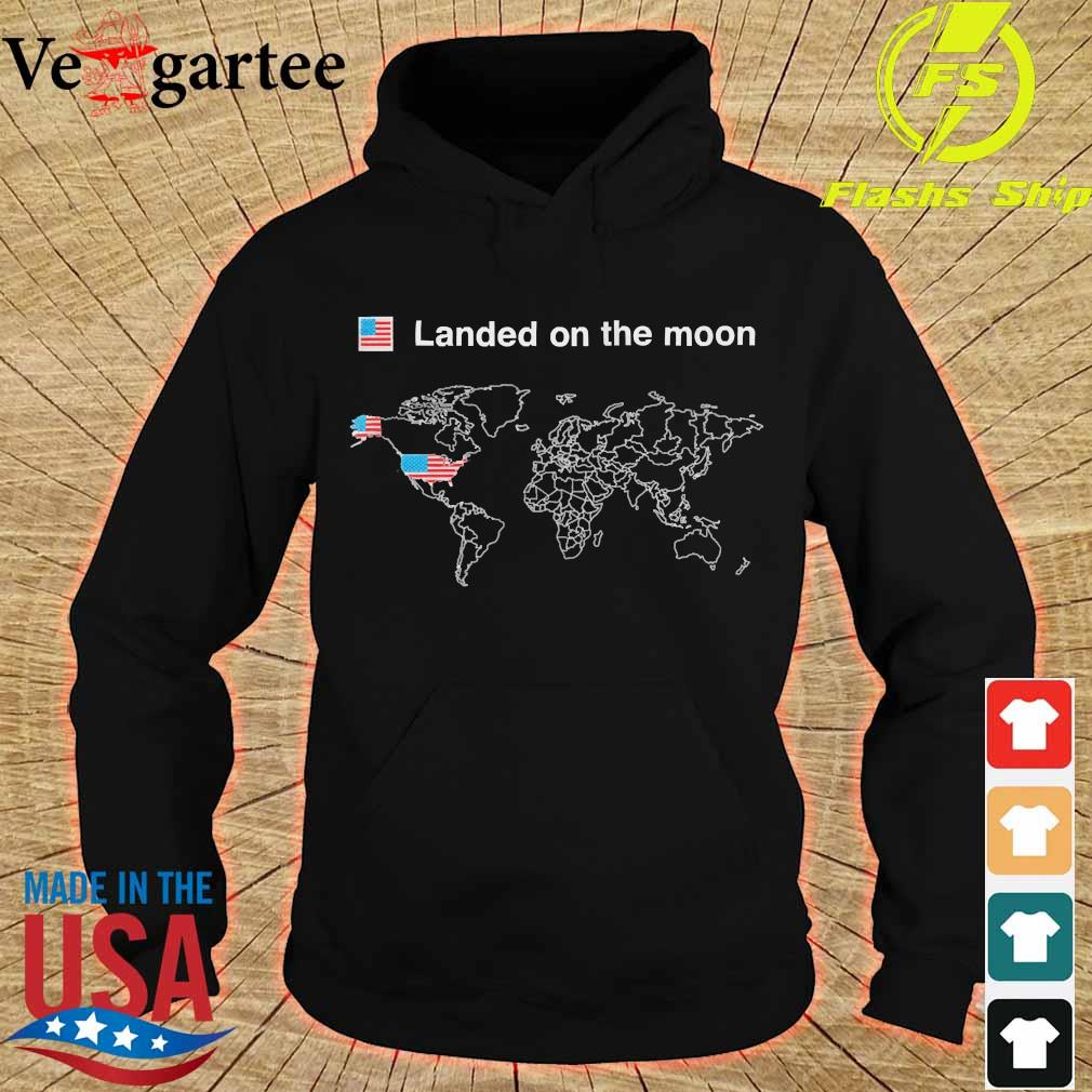 American landed on the moon s hoodie