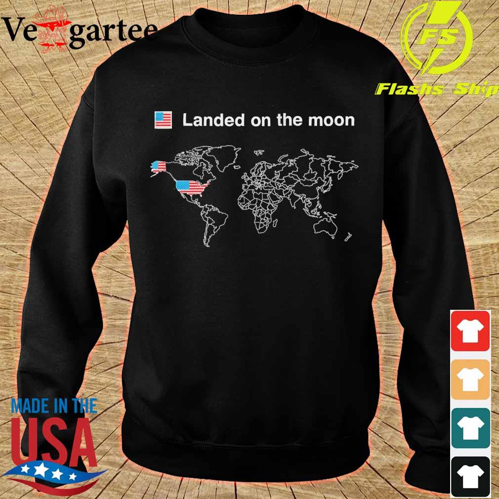 American landed on the moon s sweater