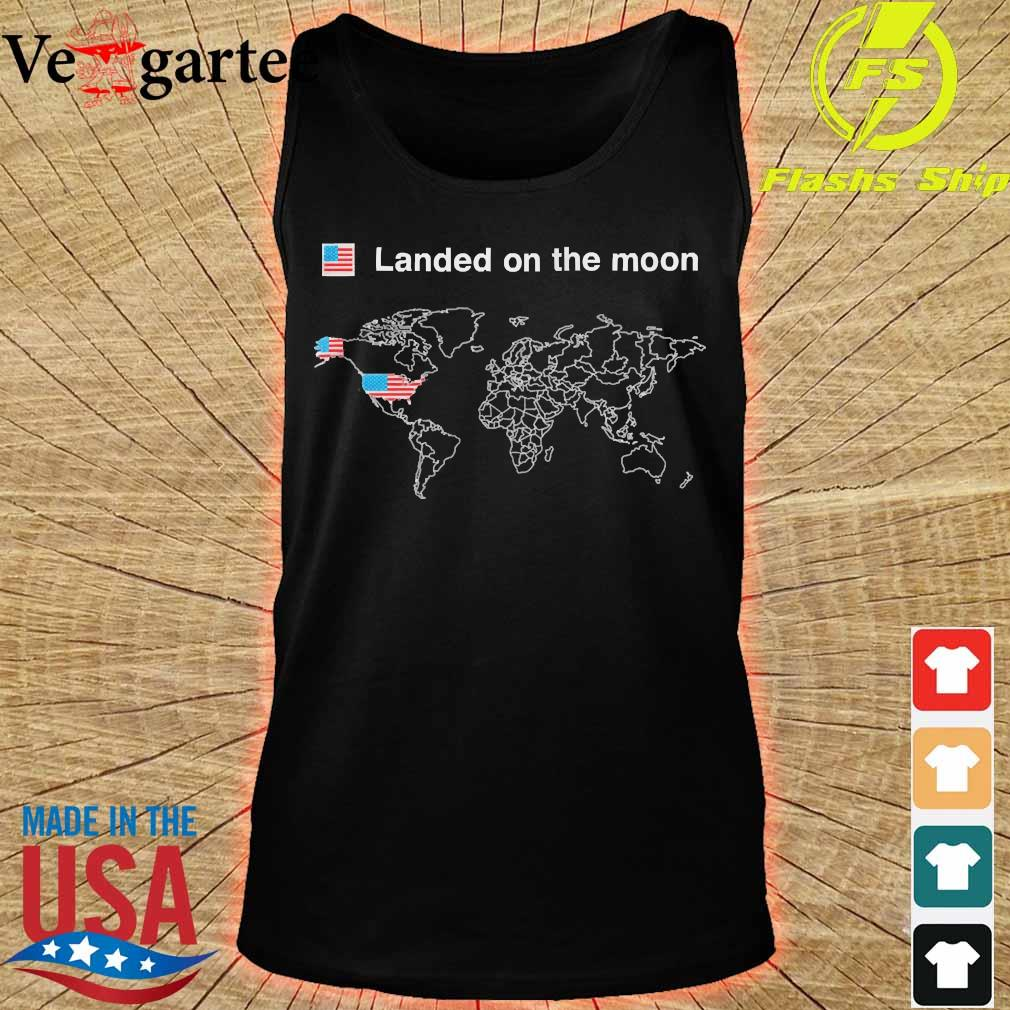 American landed on the moon s tank top