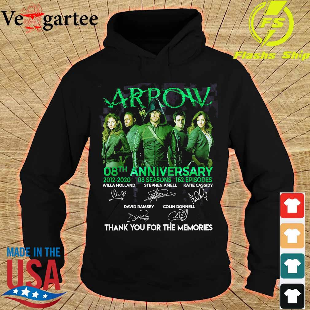 Arrow 08th anniversary 2012 2020 o8 seasons 162 episodes thank You for the memories signatures Shirt hoodie