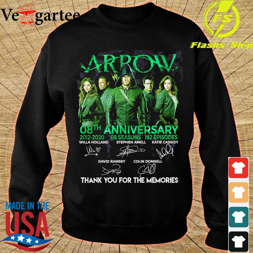 Arrow 08th anniversary 2012 2020 o8 seasons 162 episodes thank You for the memories signatures Shirt sweater