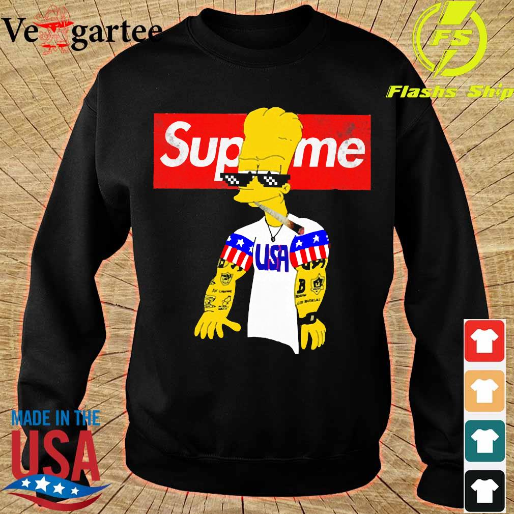 Bart Simpson supreme USA thug life s sweater