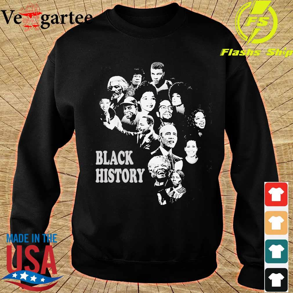 Black History Month Famous Characters s sweater