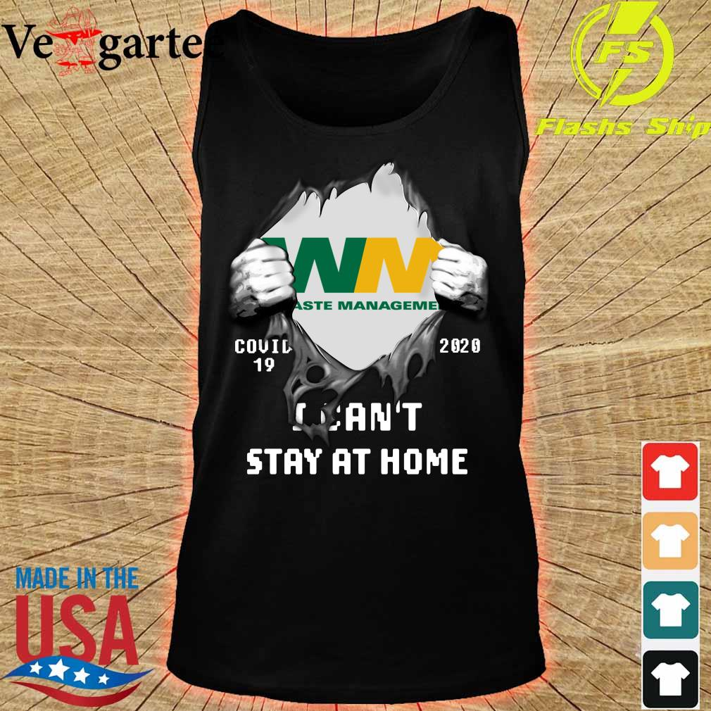 Blood Inside me Waste Management covid-19 2020 i can't stay at home s tank top