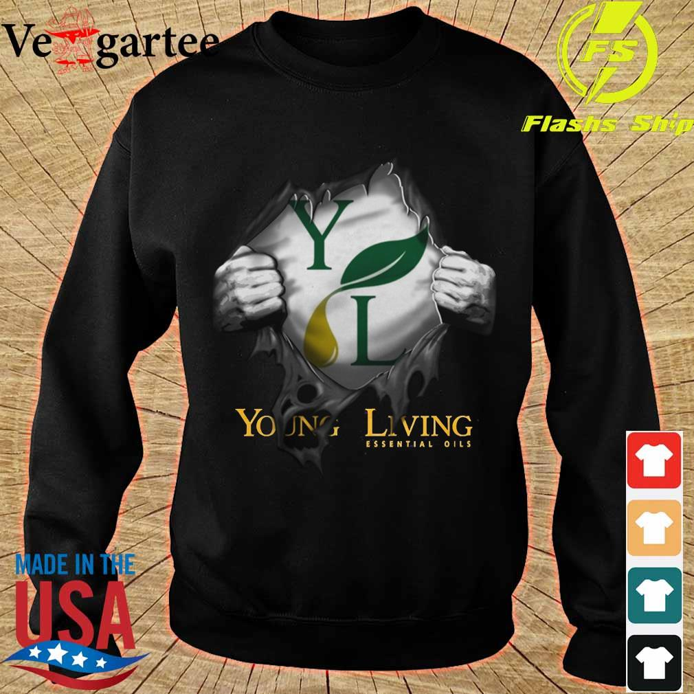 Blood inside me Young Living Essential Oils Shirt sweater