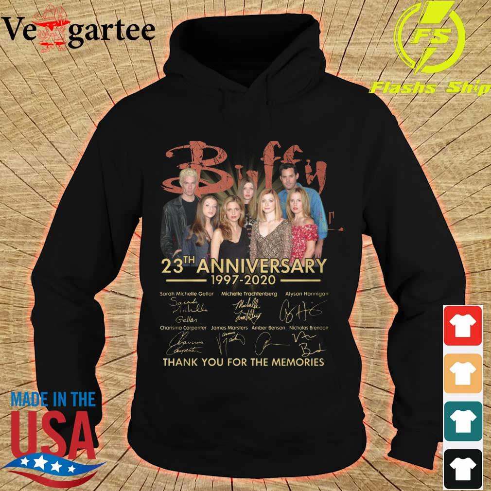 Buffy 23th anniversary 1997 2020 thank You for the memories signatures s hoodie
