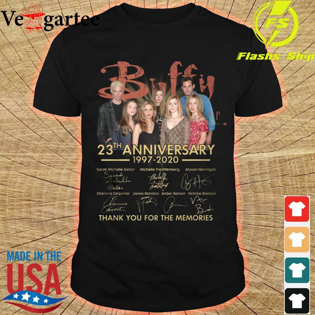 Buffy 23th anniversary 1997 2020 thank You for the memories signatures shirt