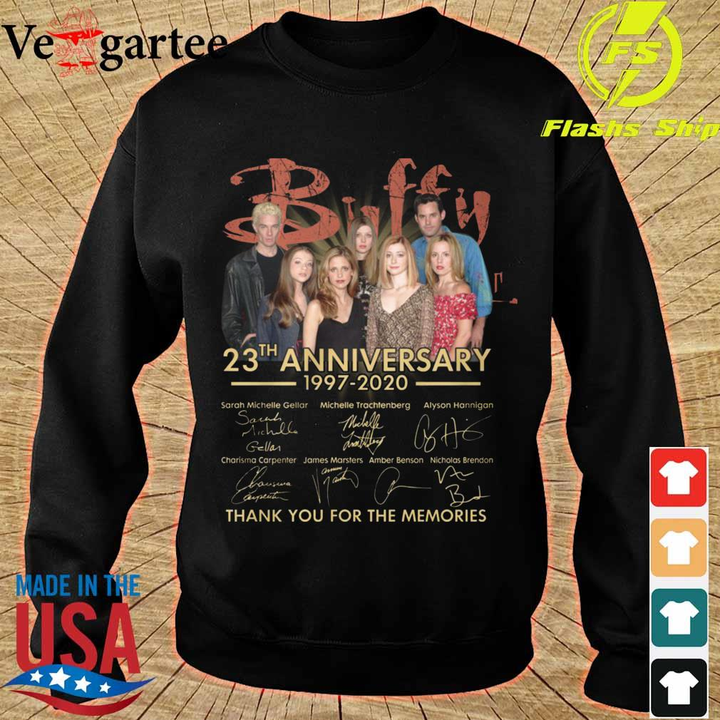 Buffy 23th anniversary 1997 2020 thank You for the memories signatures s sweater