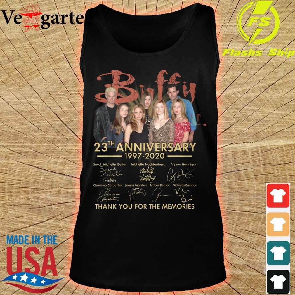 Buffy 23th anniversary 1997 2020 thank You for the memories signatures s tank top