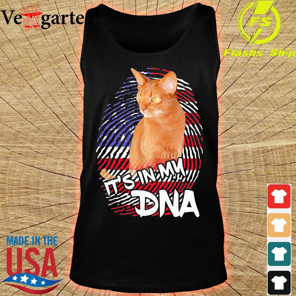 Cat it's in my DNA American s tank top