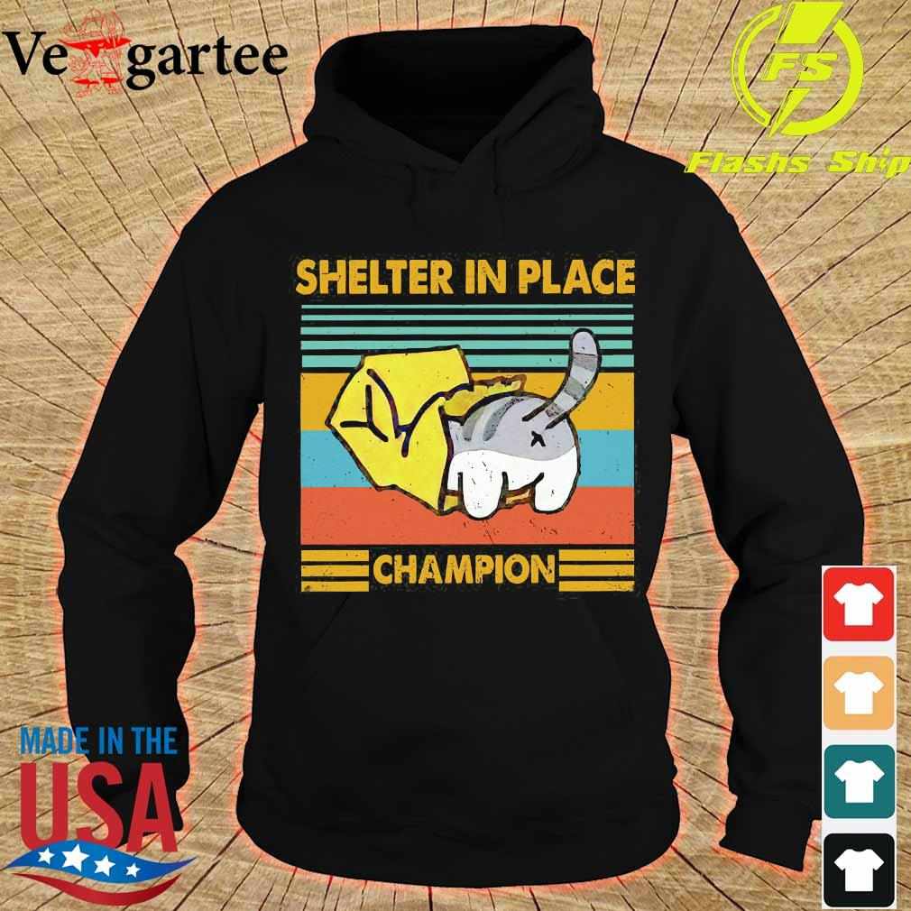Cat Shelter in Place champion vintage s hoodie