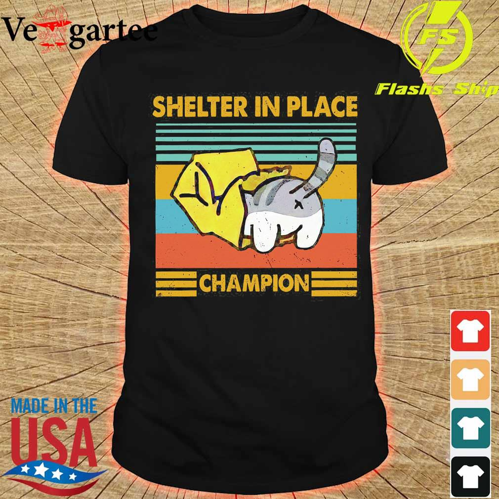 Cat Shelter in Place champion vintage shirt