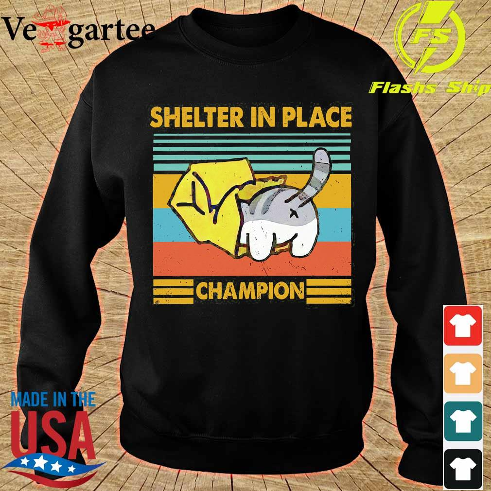 Cat Shelter in Place champion vintage s sweater