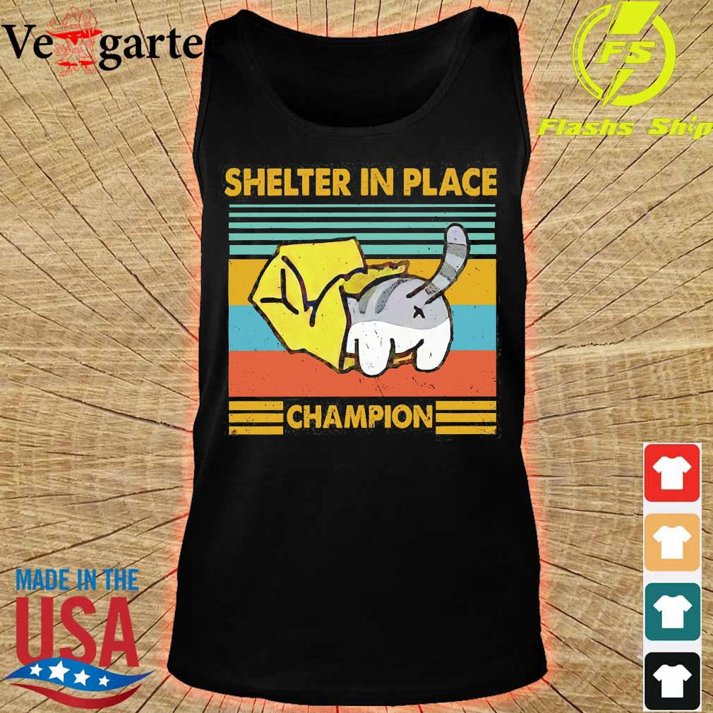 Cat Shelter in Place champion vintage s tank top