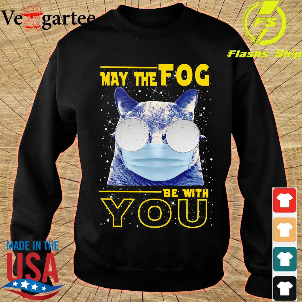 Cat wear mask May the Fog be with You s sweater