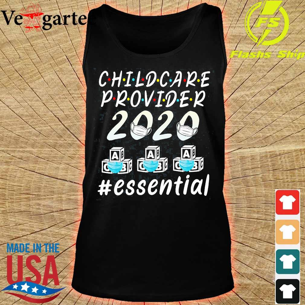 Child care provider 2020 mask ABC essential Shirt tank top