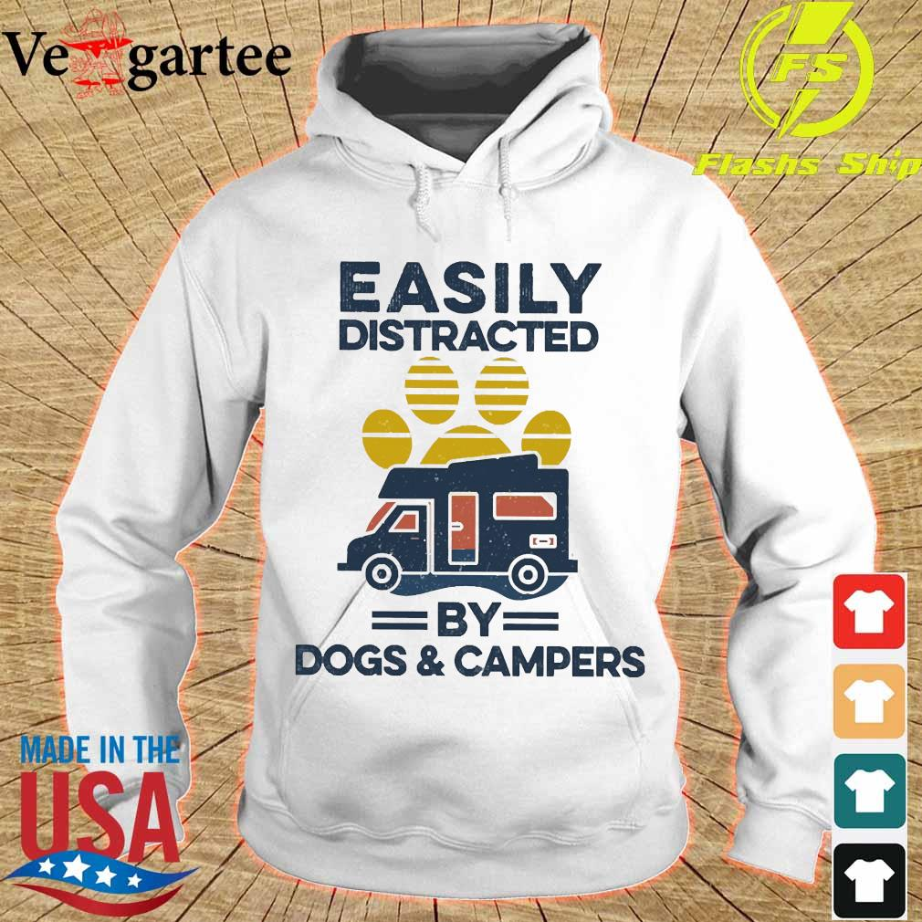 Easily distracted by dogs and campers vintage s hoodie