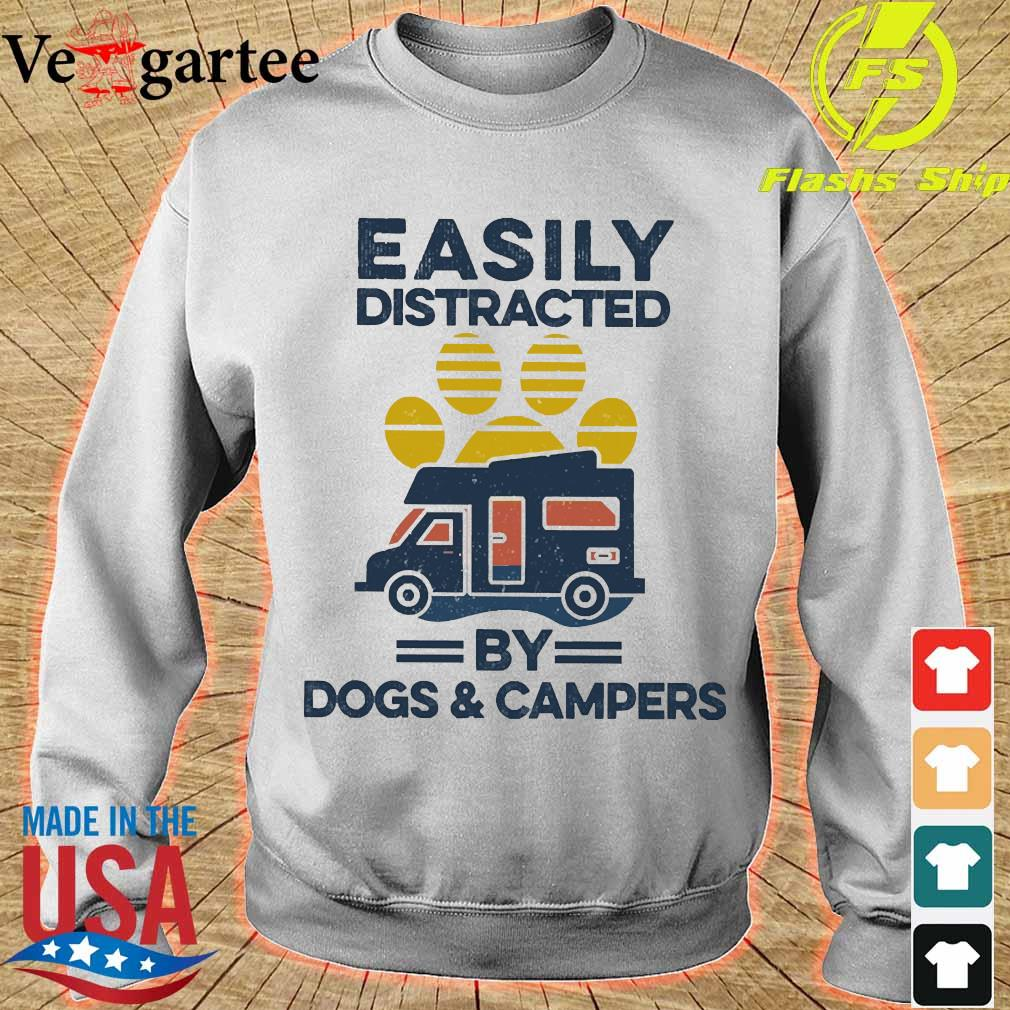 Easily distracted by dogs and campers vintage s sweater