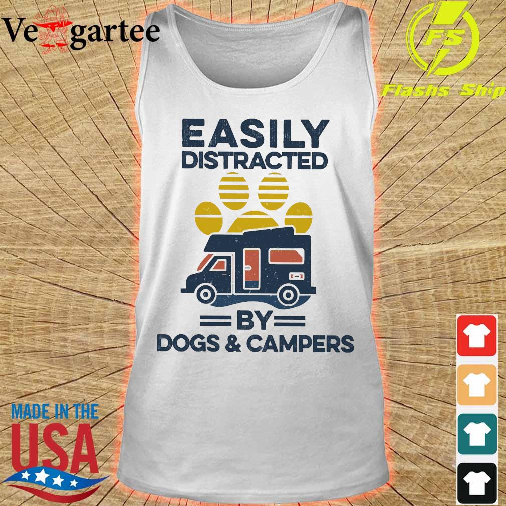 Easily distracted by dogs and campers vintage s tank top