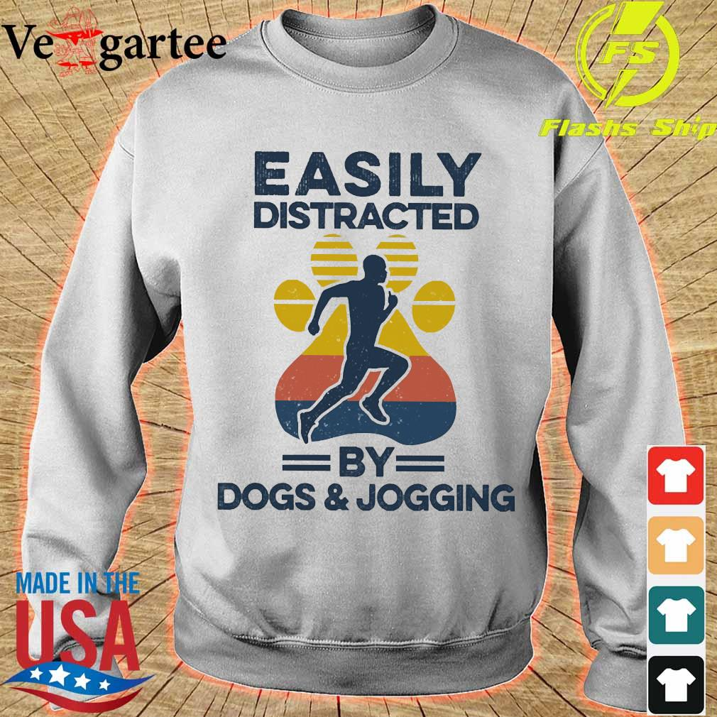 Easily distracted by dogs and jogging vintage s sweater