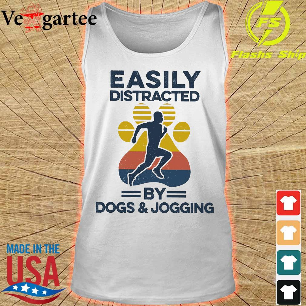 Easily distracted by dogs and jogging vintage s tank top