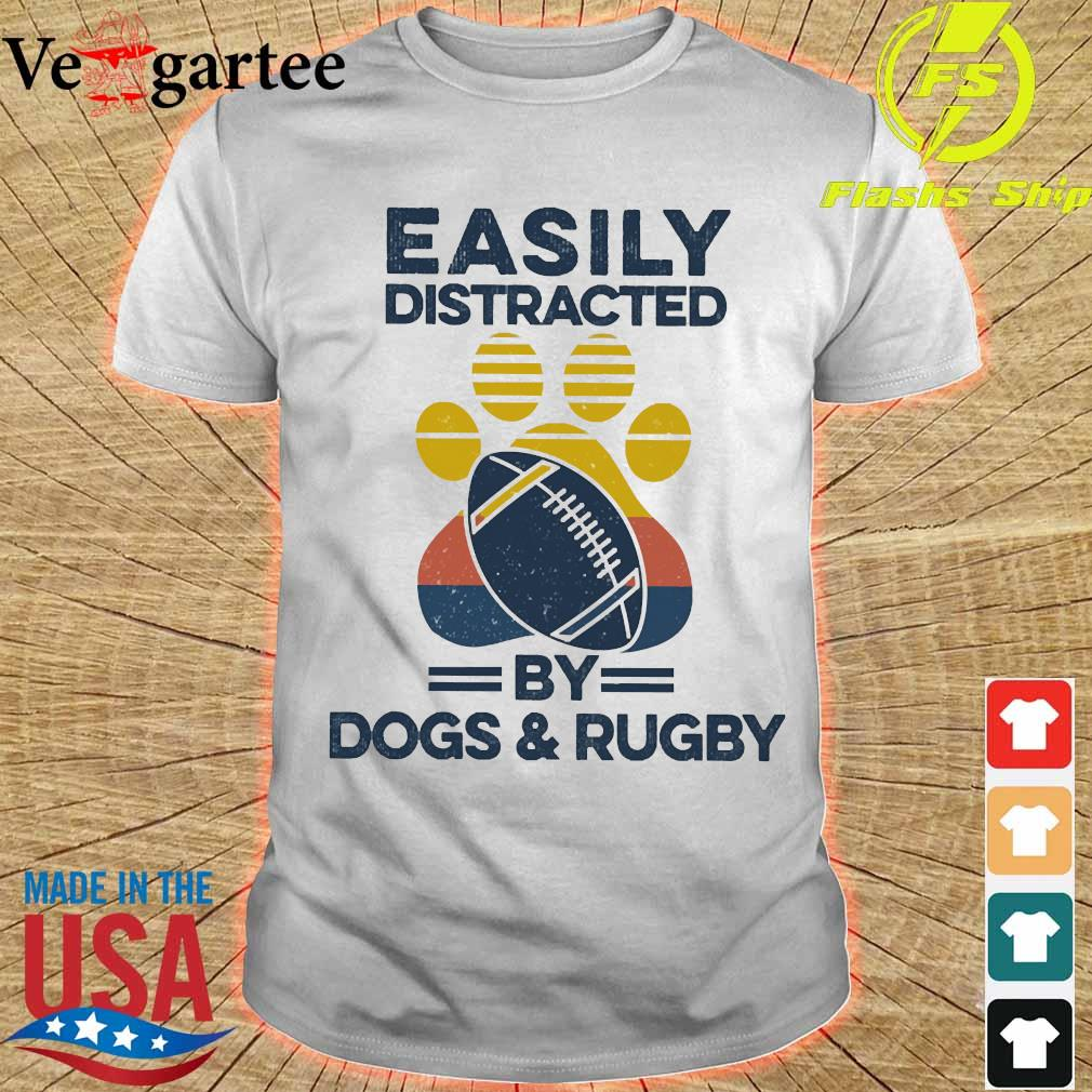 Easily distracted by dogs and rugby vintage shirt