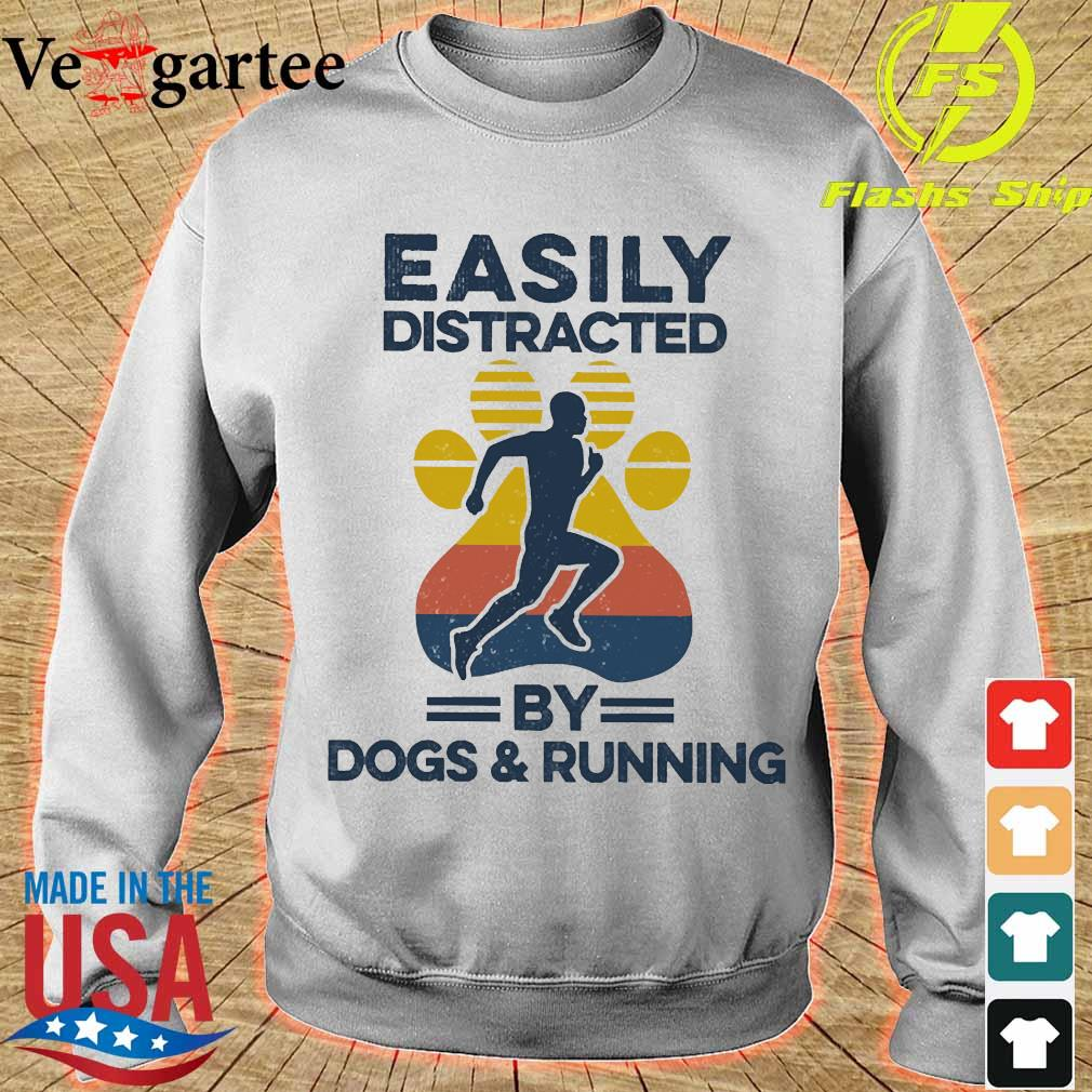 Easily distracted by dogs and run vintage s sweater