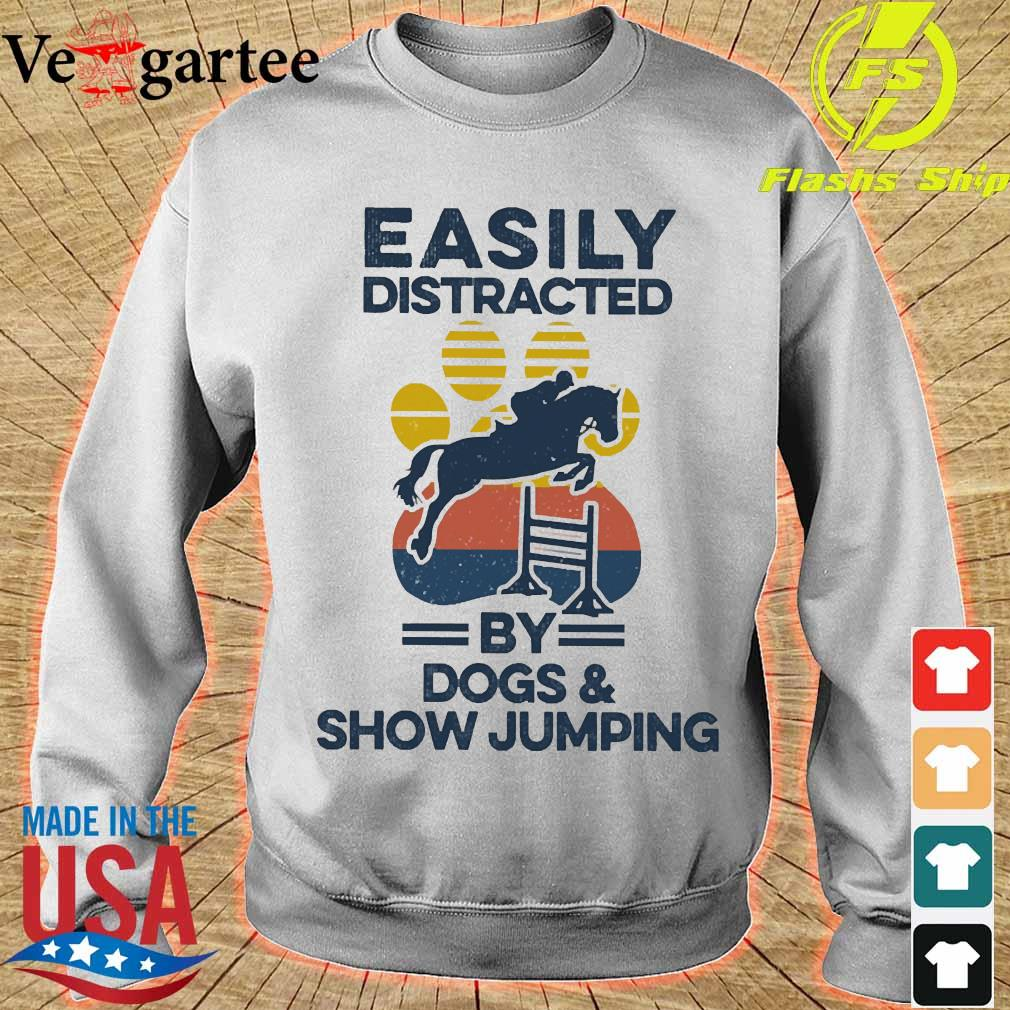 Easily distracted by dogs and show jumping vintage s sweater