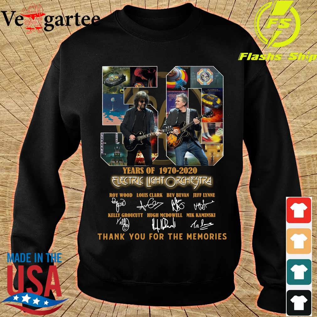 Electric Light Orchestra 50 Years of 1970 2020 thank You for the memories signatures s sweater