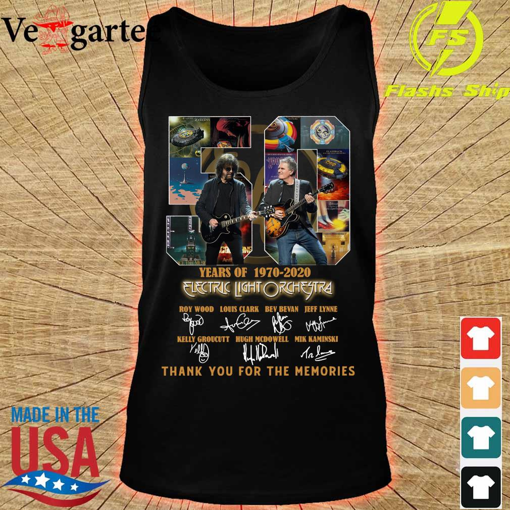Electric Light Orchestra 50 Years of 1970 2020 thank You for the memories signatures s tank top