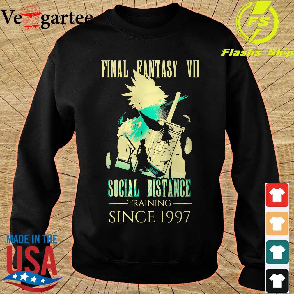 Final Fantasy VII social distance training since 1997 s sweater