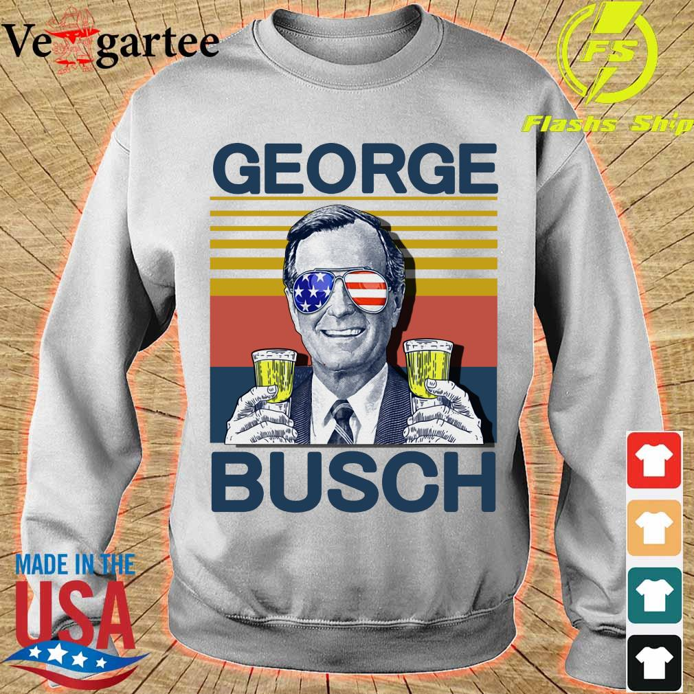Geprge Busch Beer the 4th of July vintage s sweater