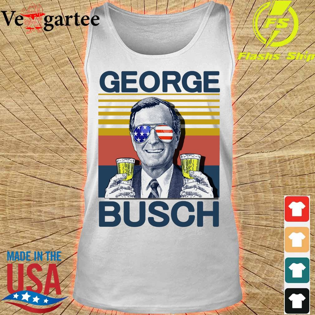 Geprge Busch Beer the 4th of July vintage s tank top