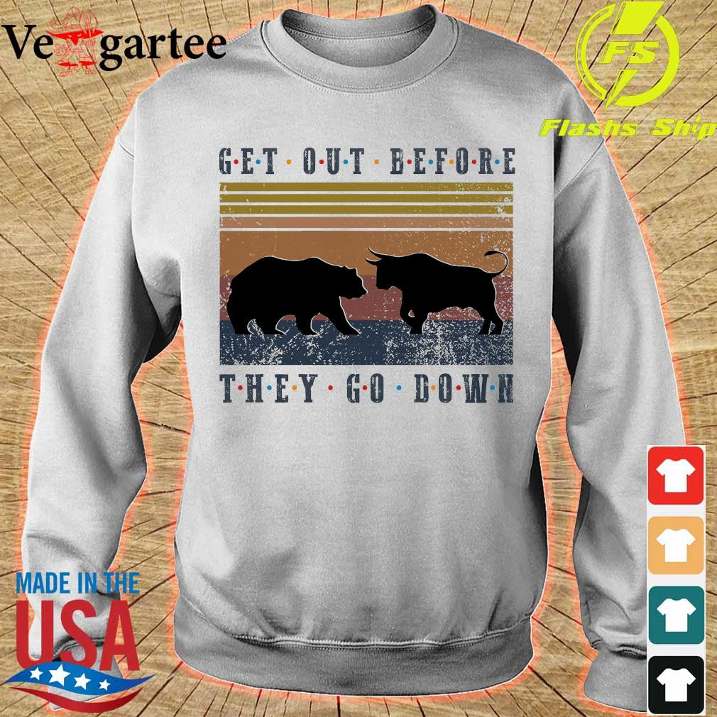 Get out before they go down vintage s sweater